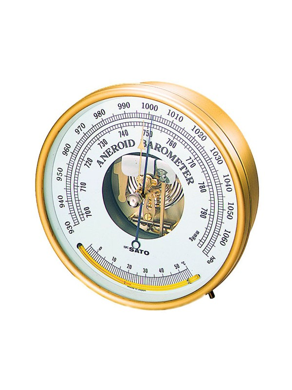 Barometer with Thermometer Analog